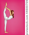 pop art girl doing gymnastics or yoga 44600709