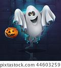 Vector illustration cartoon ghost 44603259