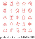 christmas, icons, icon 44607000