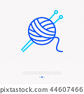 Knitting thin line icon: tangle and spokes 44607466