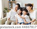 ครอบครัวผู้ปกครองและเด็กครอบครัวเด็กผู้หญิง 44607817
