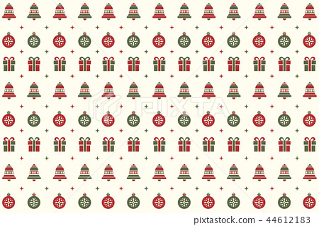 Merry Christmas pattern background design vector 44612183