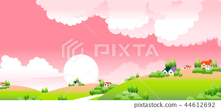 風景,例證 44612692