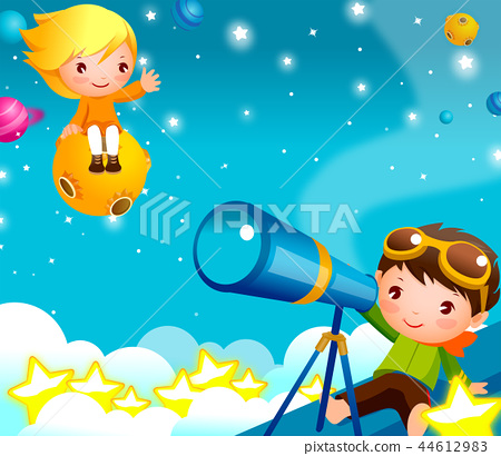 Children, concentric, dream, illustration 44612983
