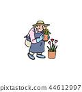 꽃을 키우는 할머니 44612997