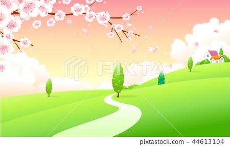 風景,例證 44613104