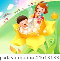兒童,生活,插圖 44613133
