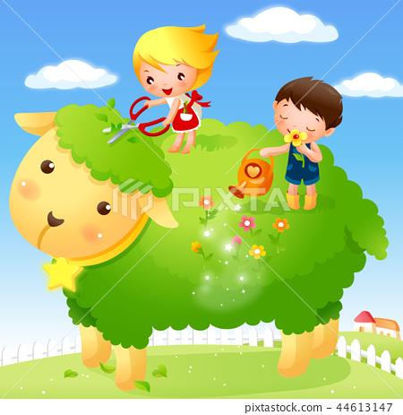 어린이,생활,일러스트 44613147
