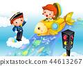 兒童,生活,插圖 44613267