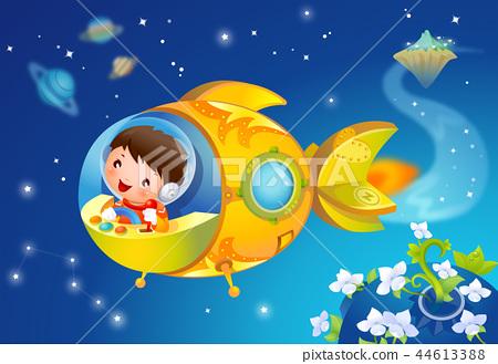 兒童,生活,插圖 44613388