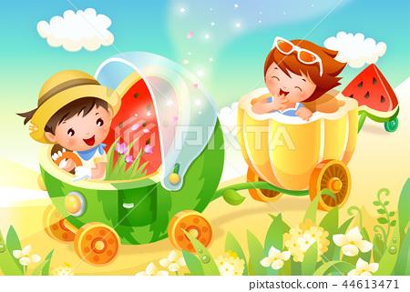 어린이,생활,일러스트 44613471