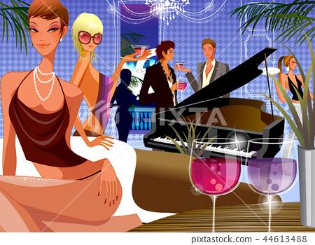 사람,파티,생활,일러스트 44613488