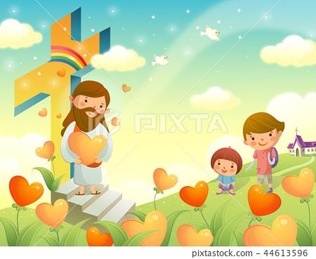 기독교,종교,일러스트 44613596