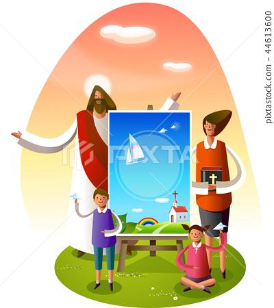 기독교,종교,일러스트 44613600