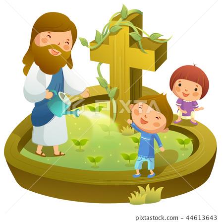 기독교,종교,일러스트 44613643