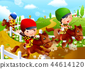 兒童,體育,插圖 44614120