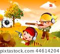 어린이,스포츠,일러스트 44614204