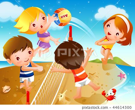 어린이,스포츠,일러스트 44614300