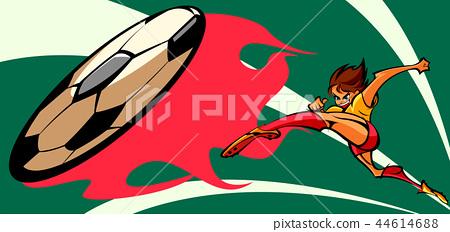 Dynamic, vitality, person, illustration 44614688