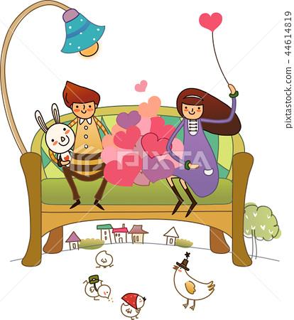 Love, heart, illustration 44614819