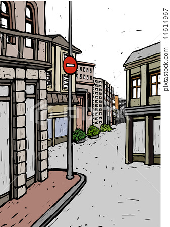 City, life, illustration 44614967