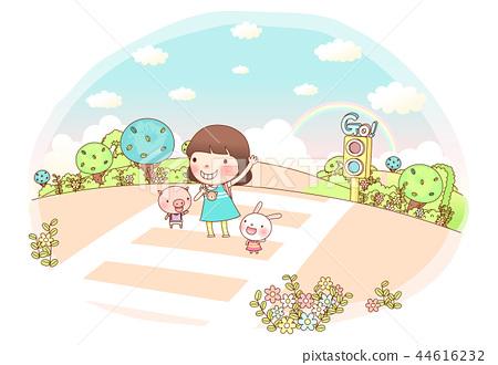 學校,生活,插圖 44616232