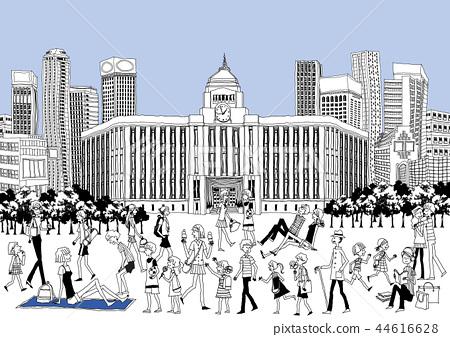 城市,旅行,插圖 44616628