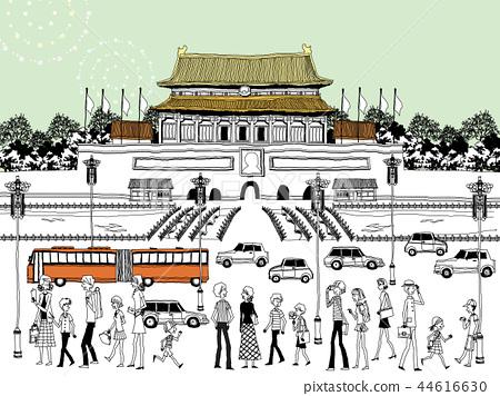城市,旅行,插圖 44616630