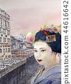 강바닥과 마이코 마이코 일본 관광 kyoto 교토 명소 44616642