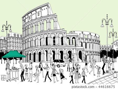 城市,旅行,插圖 44616675