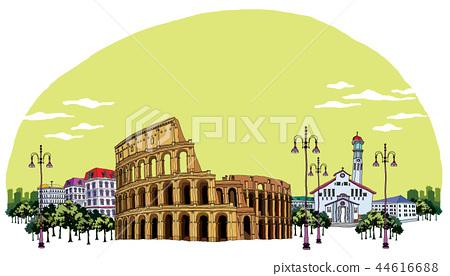 도시,여행,일러스트 44616688
