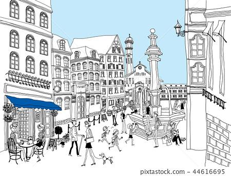 城市,旅行,插圖 44616695