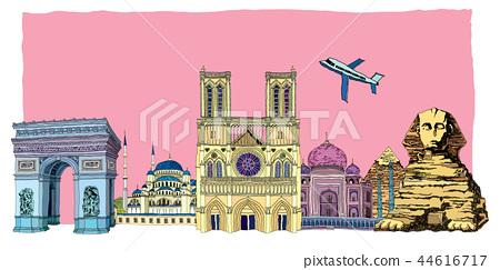 城市,旅行,插圖 44616717