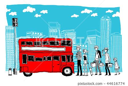 城市,旅行,插图 44616774