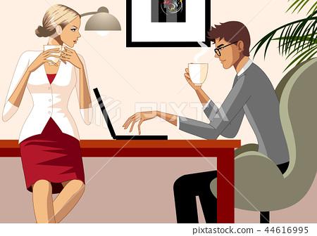 커플,사람,생활, 일러스트 44616995