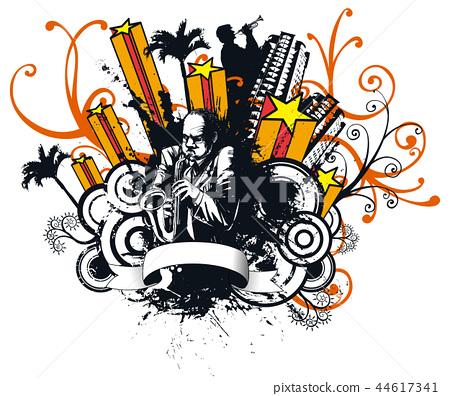 塗鴉,音樂,插圖 44617341