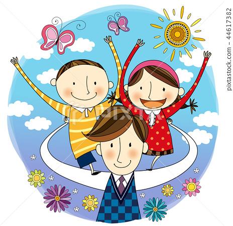 家庭,假期,插圖 44617382