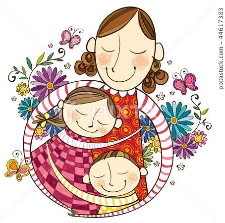 家庭,假期,插圖 44617383