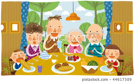 家庭,幸福,插圖 44617389