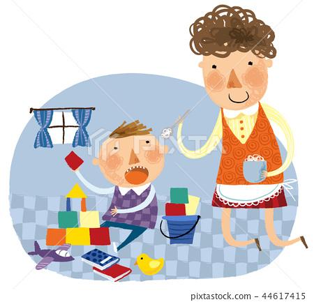 家庭,幸福,插圖 44617415