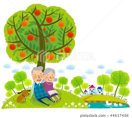 老人,退休,插圖 44617486