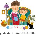 家庭,幸福,插圖 44617489