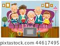 家庭,幸福,插圖 44617495