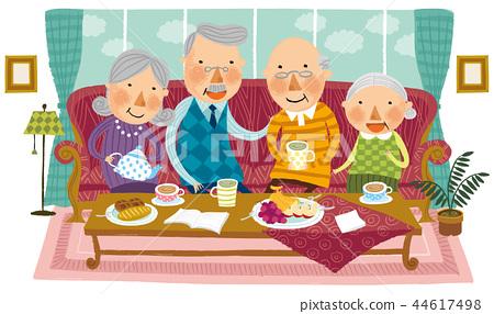 노인,은퇴,일러스트 44617498