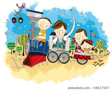 家庭,假期,插圖 44617507