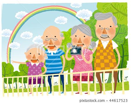 老人,退休,插圖 44617523