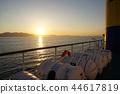 에게 해를 항해해야 배의 광경 44617819