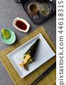 temaki roll with tempura prawns 44618315