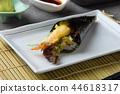 temaki roll with tempura prawns 44618317