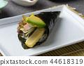 Sushi temaki with shrimp and avocado 44618319